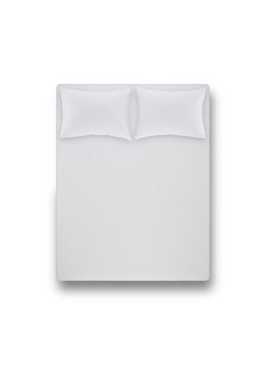 Penelope Laura Percale Easy Care 180x200+35 Çift Kişilik Fitted Çarsaf Seti Beyaz Beyaz